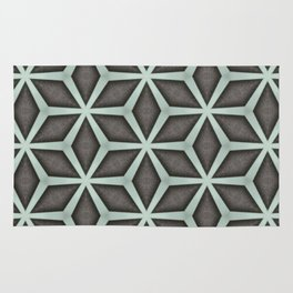Mint Green, Cream & Chocolate Brown No. 7 Rug