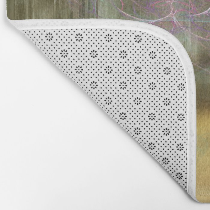 Laundry Line in Abstract Bath Mat