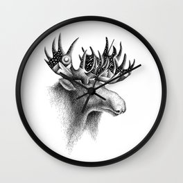 THE MOOSE AND THE MOON Wall Clock