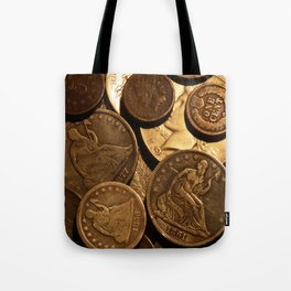 Cool Old Coins Tote Bag