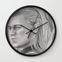 archer Wall Clocks featuring Elf Archer by aurelia-art