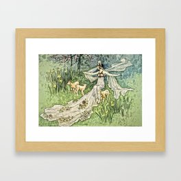 Fairy in the Meadow Framed Art Print