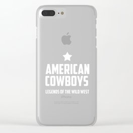 Old West Shirt American Legends Wild West Clear iPhone Case