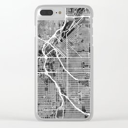 Denver Colorado Street Map Clear iPhone Case