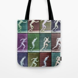 Horse Motion Study Colorful Beautiful Horse Trotting Jumping HorseRrace Gift Idea Tote Bag