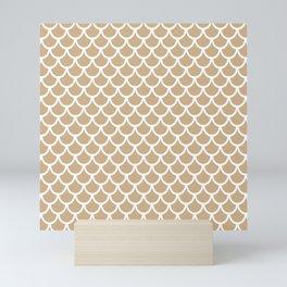Scales (White & Tan Pattern) Mini Art Print
