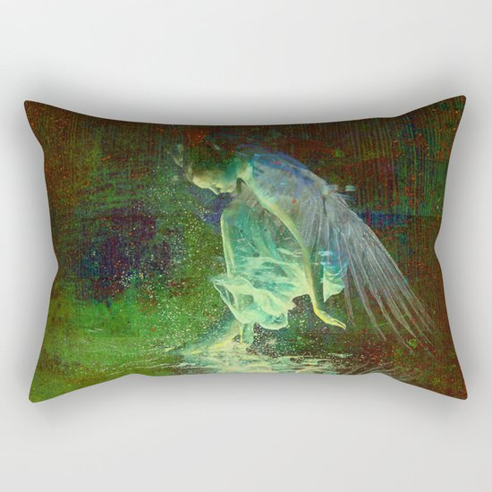 The reflection of the angel Rectangular Pillow