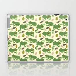 Fun Frogs with Leaves from Trees Laptop & iPad Skin