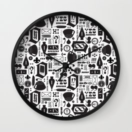 Write This Way Pattern Wall Clock