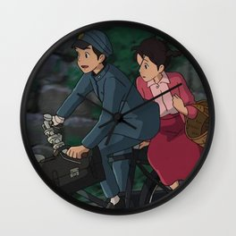 poppy hill studio ghibli Wall Clock