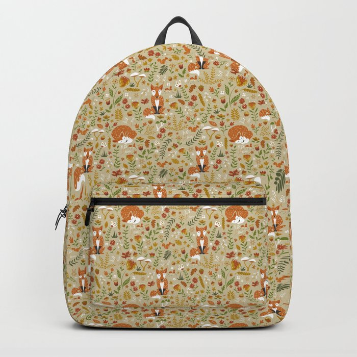 Foxes with Fall Foliage Backpack