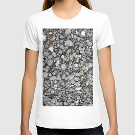 pebbles on the beach T-shirt
