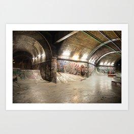 London Skate Park Art Print