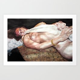 Just Showered in It / Towelin' Off Art Print