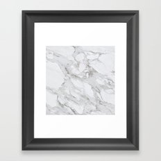 White Marble 01 Framed Art Print