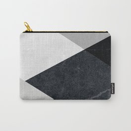 Geometrics - marble & silver Carry-All Pouch