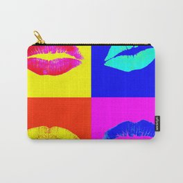 LIPS ON COLOURED SQUARES / LIP SERVICE Carry-All Pouch