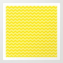 Golden Yellow Moroccan Moods Chevrons Art Print