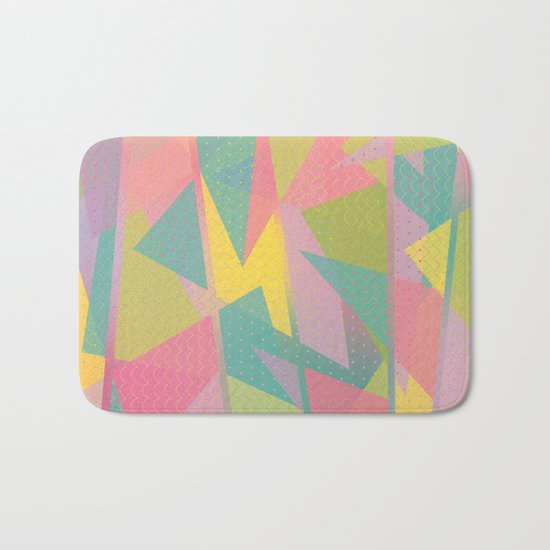 Abstract Geometric Pattern - Sugar Crush Bath Mat