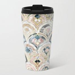 Art Deco Marble Tiles in Soft Pastels Metal Travel Mug