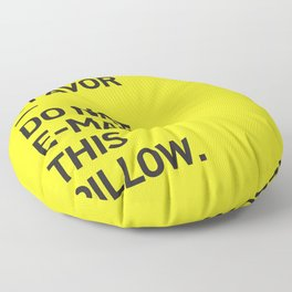 Save the planet. Floor Pillow