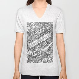 The Town of Train 3 Unisex V-Neck