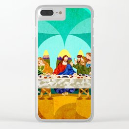 Curves - Last Supper Clear iPhone Case