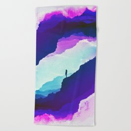 Violet dream of Isolation Beach Towel