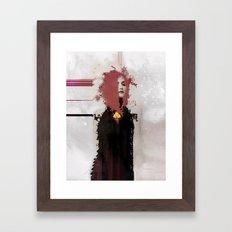 With regards; elaboration Framed Art Print