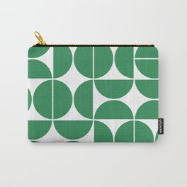 Mid Century Modern Geometric 04 Green Carry-All Pouch