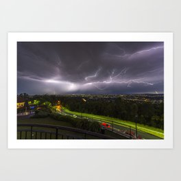 Summer Storm Over Brisbane Art Print