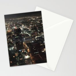 night LA, downshot Stationery Cards