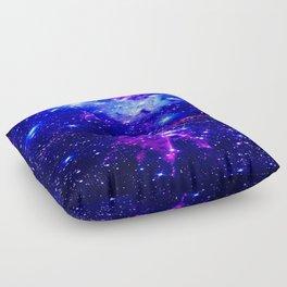 Fox Fur Nebula Galaxy blue purple Floor Pillow