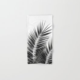 Black Palm Leaves Dream - Cali Summer Vibes #1 #tropical #decor #art #society6 Hand & Bath Towel