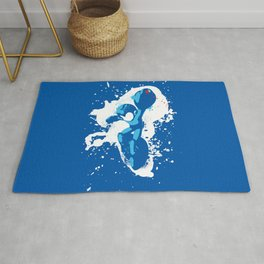 Mega Man Splattery Design Rug