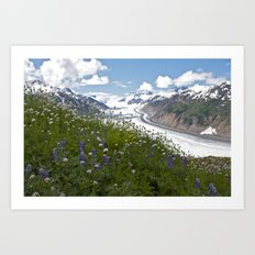 Glacial Flowers Art Print
