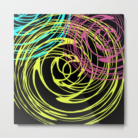 Abstract pattern on black background . Metal Print