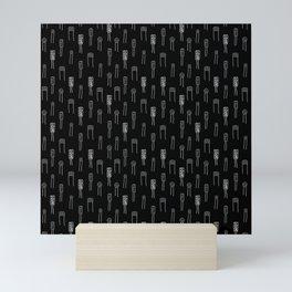 Capacitors - White on Black Mini Art Print