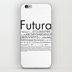 Futura (Black) iPhone Skin