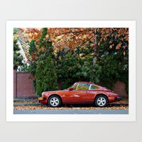 porsche Art Prints featuring Porsche by L R Photography