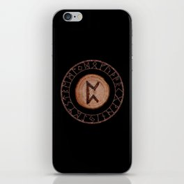 Perthro Elder Futhark Rune of fate and the unmanifest, probability, luck, nothingness, the unborn iPhone Skin