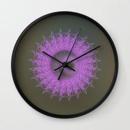 Crown chakra mandala, mindfulness, meditation Wall Clock