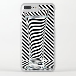 Striped Water Clear iPhone Case