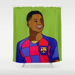 Ansu Fati Wunderkind Shower Curtain