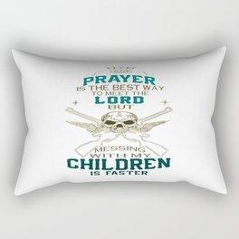 Mess With My Children Rectangular Pillow