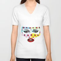 arabic V-neck T-shirts featuring Arabic  by Peonies