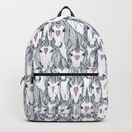 unicorn love navy orchid Backpack