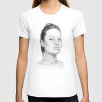 angelina jolie T-shirts featuring Angelina Jolie  by Olechka