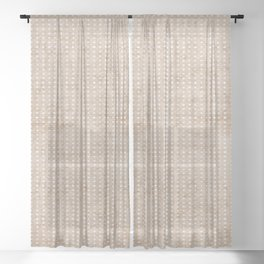 ZEN TILE Sheer Curtain