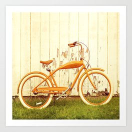 Orange Ride Art Print